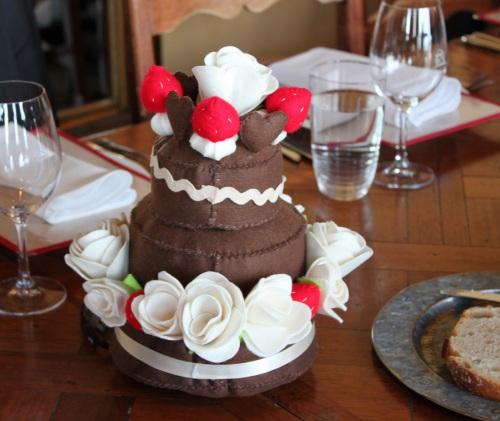 Felt wedding cake