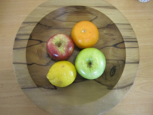 Fruit in wooden fruit bowl