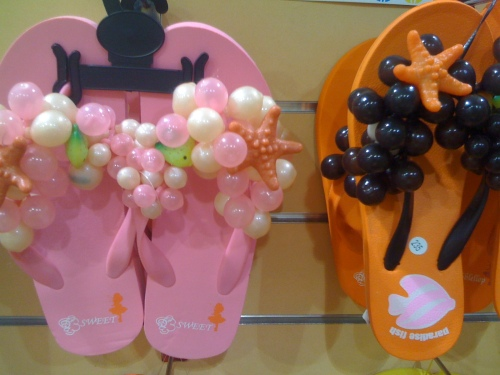decorated thongs sandals