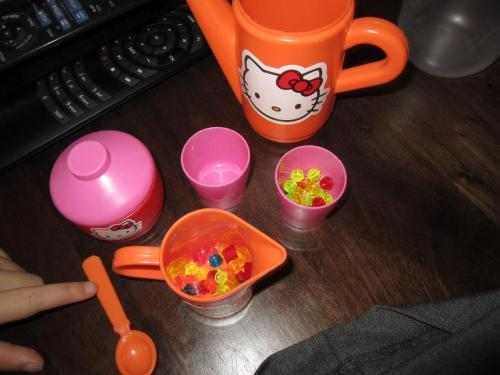 Hello Kitty tea set with Lego
