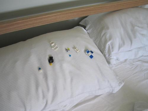 Lego on pillow