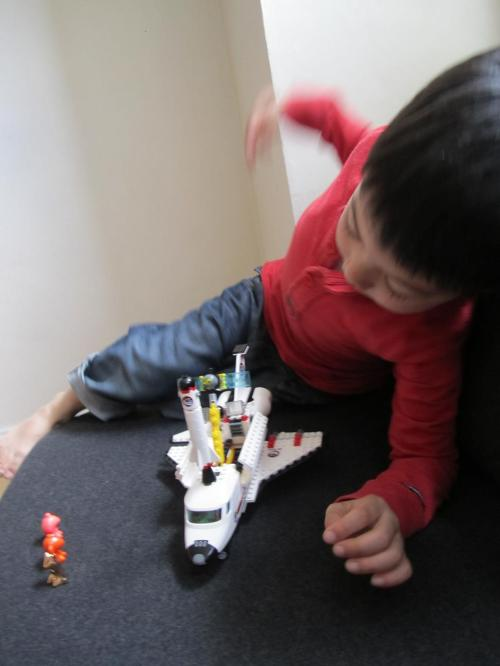The Lego spaceship