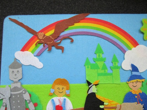 wizard of oz felt rainbow