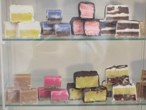 Colourful fudge