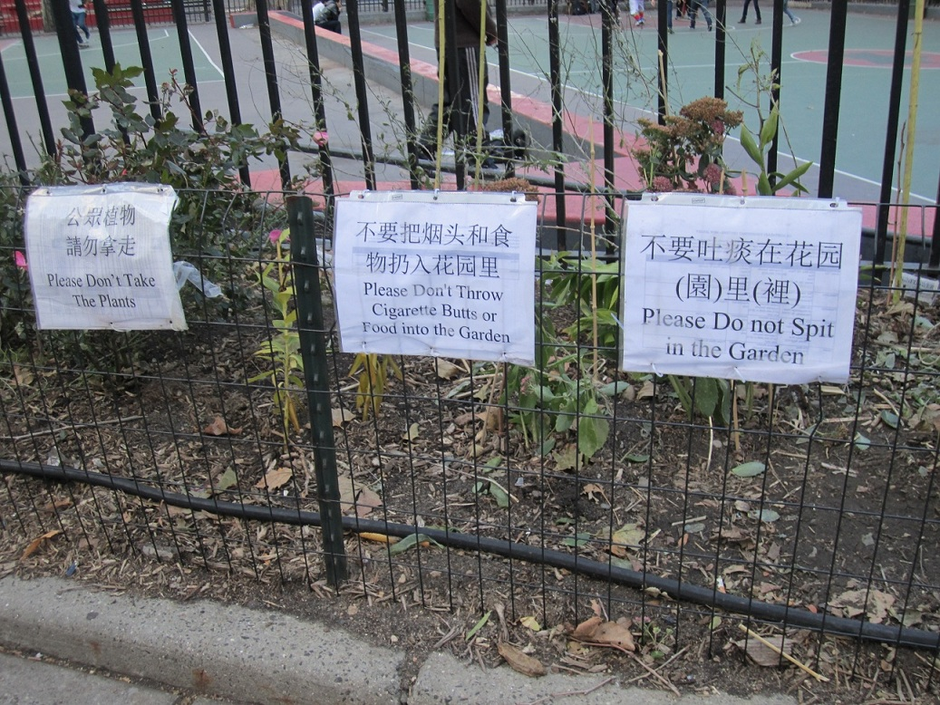 New York Chinatown signs